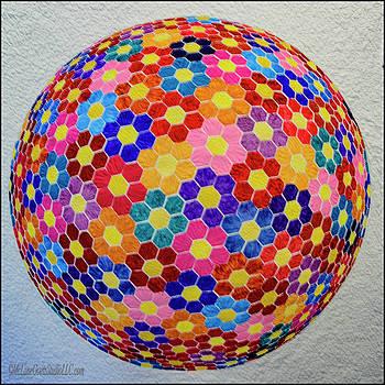American Quilt Flower Ball by LeeAnn McLaneGoetz McLaneGoetzStudioLLCcom