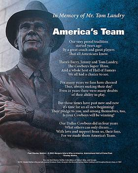 America's Team Poetry Art by Stanley Mathis