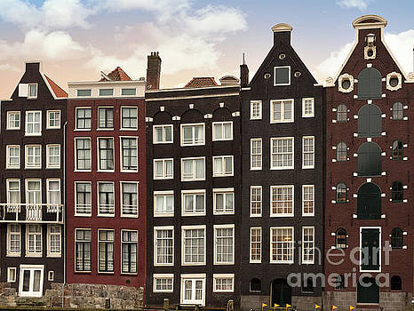 Amsterdam architectre at twilight by Jane Rix