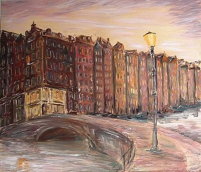 Amsterdam at dawn by Alexander Bukhanov