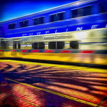 Amtrak Blurring By by Joseph Hollingsworth