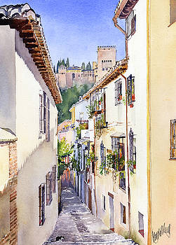 An Alley in the Albaicin 2 by Margaret Merry