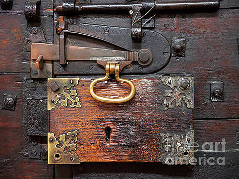 An ancient door lock in Lincoln Cathedral by Louise Heusinkveld