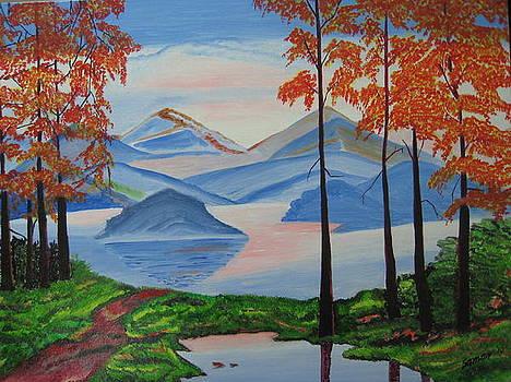An Evening In Mountains by Saman Khan