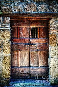 Ancient Door in Civita di Bagnoregio by George Oze