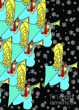 Angel Array With Snowflakes by Genevieve Esson