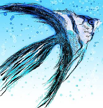 Angel Fish Art by Barbara Chichester