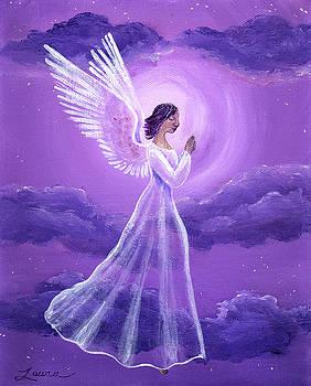 Laura Iverson - Angel in Amethyst Moonlight