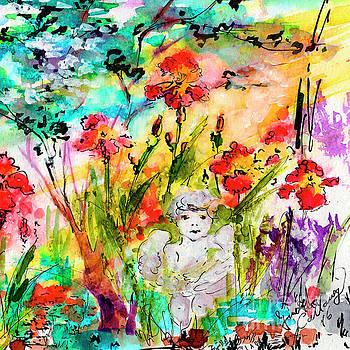 Ginette Callaway - Angel In The Garden Watercolor