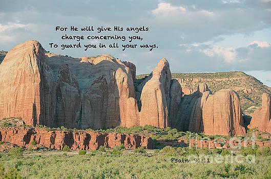 Angel Wings Rock Psalm 91 v 11 by Debby Pueschel
