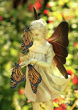 Angel with Real Butterfly Blessing Photo by Luana K Perez