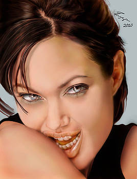 Angelina Jolie - cold seduction  by Reggie Duffie
