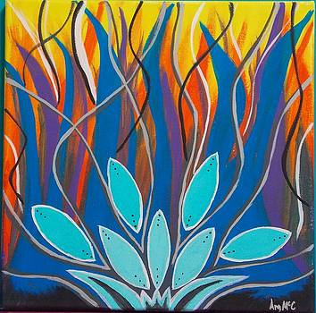 Angry Lotus by Angela McCool