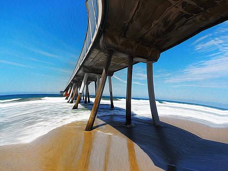 Another Odd Day Under Hermosa Beach Pier by Joe Schofield