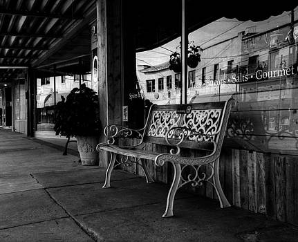 Antique Bench Black And White by Ester Rogers