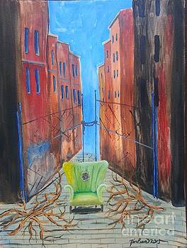 Antique Chair in the Alley by Karleen Kareem