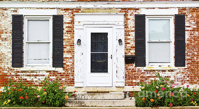 Antique Front Door Windows and Flower Bed by ELITE IMAGE photography By Chad McDermott