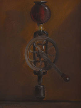 Antique Hand Drill with Light  by Rich Alexander