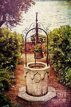Antique Italian Well in a Garden at Lake Garda by George Oze