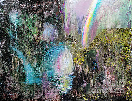 Anne Cameron Cutri - Antique Landscape with Rainbow