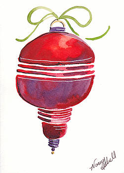 Antique Ornament In Red by Michele Hollister - for Nancy Asbell