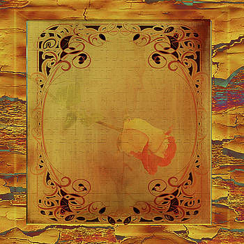 Antique Rose Card by Larry Bishop