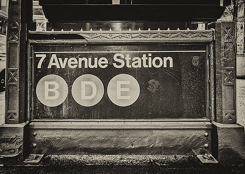 Antique Subway entrance by Dick Wood
