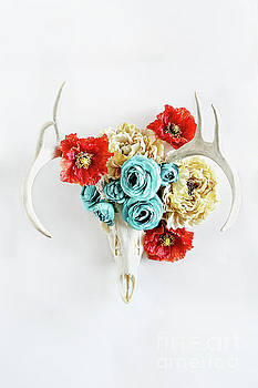 Antlers and Florals by Stephanie Frey