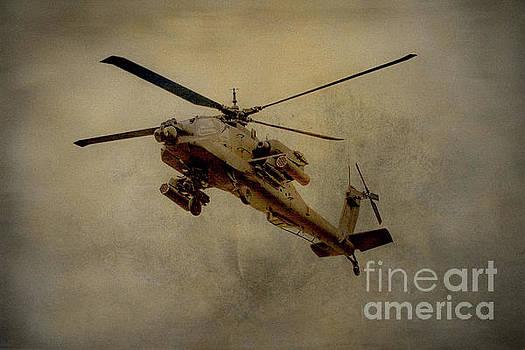 Apache Desert Takoff by Randy Steele