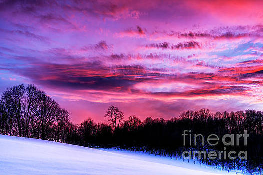 Appalachian Afterglow on Snow by Thomas R Fletcher