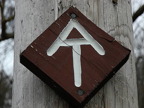 Appalachian Trail Sign Old Albany Post Road by Raymond Salani III
