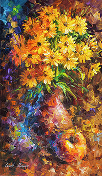Apple and Flowers by Leonid Afremov