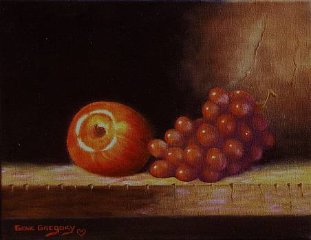 Apple and grapes by Gene Gregory