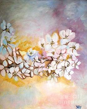 Apple Blooms by Donna Dixon