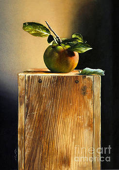 Apple On A Box by Larry Preston