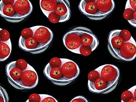 Joyce Geleynse - Apples in Enamel Bowl Random Pattern