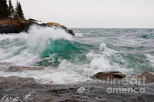 April Waves on Superior by Sandra Updyke