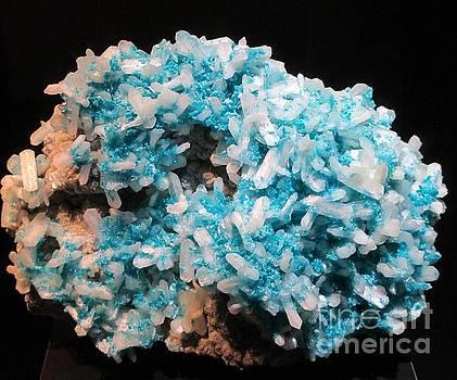 Aqua and white gemstone by Barbara Yearty