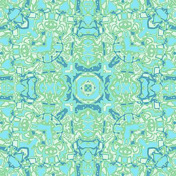 Aqua Maze No. 2 Kaleidoscope by Joy McKenzie