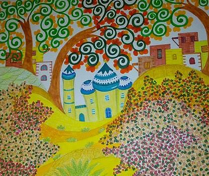 Arabic village by Jilly Curtis
