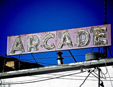 Arcade Vintage Sign by Sharon Wunder Photography