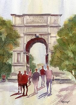 Arch of Titus by Marsha Elliott