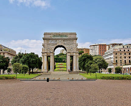 Arch of Victory Genoa by Carlo Grifone
