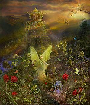 Archangel Chamuel-Angel tarot card by Steve Roberts