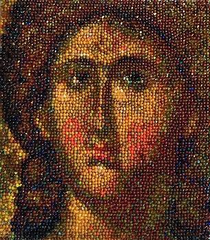 Archangel Michael, Icon by Elena Soldatkina
