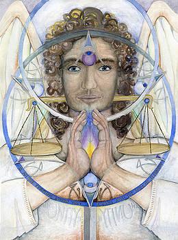 Archangel Michael's Mandala by Jo Thomas Blaine