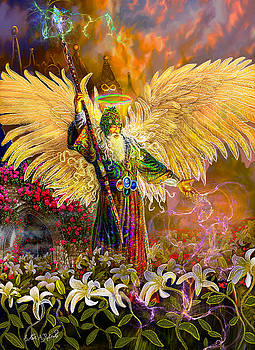 Archangel Raziel-Angel tarot card by Steve Roberts