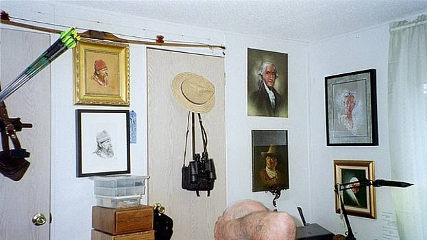 Archery and Art and Camera and HistoryPart of my studio by Mahto Hogue