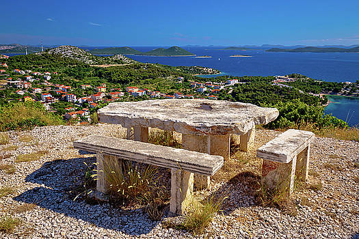 Archipelago of Croatia hill viewpoint by Dalibor Brlek