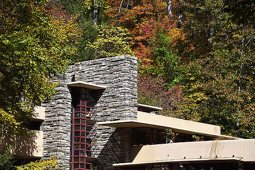 Architectural Detail of Fallingwater -  Frank Lloyd Wright by Brendan Reals